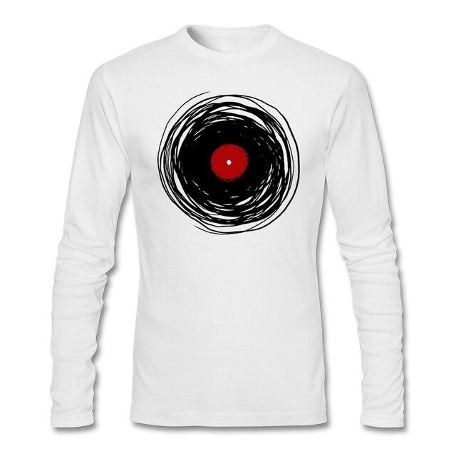 8f2851a9eb Primavera hombre Camisas Griego Spinning Con Un Disco de Vinilo 3D Camisa  de estampado Retro Music
