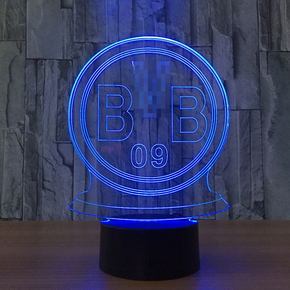 Lampen Dortmund Us 25 6 Borussia Dortmund Team Mark 3d Action Figure Model Style Led Lamp 7 Color Changing Atmosphere Bedroom Lamp Home K726 In Action Toy Figures