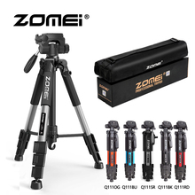 ZOMEI Q111 55 Compact Light Weight Travel Portable Folding SLR Camera Tripod for Canon Nikon Sony DSLR with Carry Case