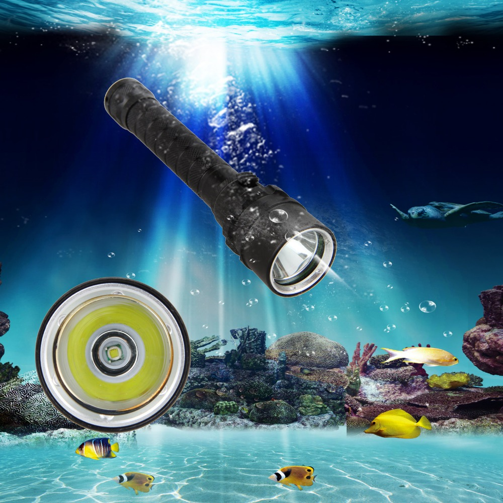 Underwater 5000LM XML T6 LED SCUBA Diving Flashlight Torch Lamp 18650 IPX8 фонарик led flashlight skyray 5 x t6 xml 3 5000lm 18650 xml t6