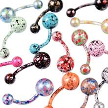 Colorful Sexy Belly Bars Body Piercing Button Ring Navel Barbell Jewerly Lip Piercing Unisex Fashion Jewelry de umbigo(China)