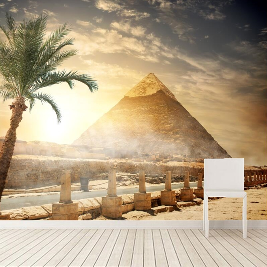 Custom 3D murals,papel de parede Egypt Desert Sky Pyramid Nature wallpaper,bar living room sofa TV background bedroom wallpaper custom large murals bar retro fashion flag sticker wallpaper coffee shop restaurant dinig room tv sofa wall bedroom 3d wallpaper