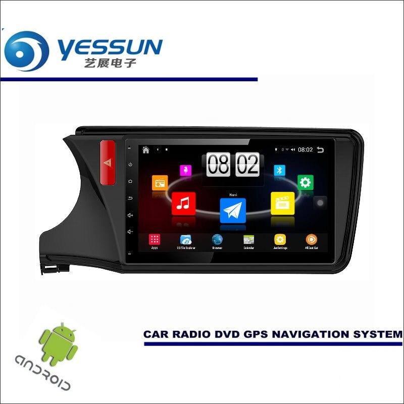 Yessun автомобиля Android мультимедийный плеер для Honda City/Грэй gm6 2013 ~ 2015 Радио стерео GPS nav Navi (без CD DVD) 10.1 HD Экран