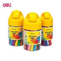 Deli aceite pastel para niños no tóxico lápices para colorear de pasteles de óleo lápiz pintura lápiz crayón infantil cera lápiz de graffiti material escolar para Bellas Artes