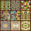 Decorative Stained Glass Windows Film Custom Wardrobe Doors Church Stained Glass Christmas Decorations For Home 60x100cm