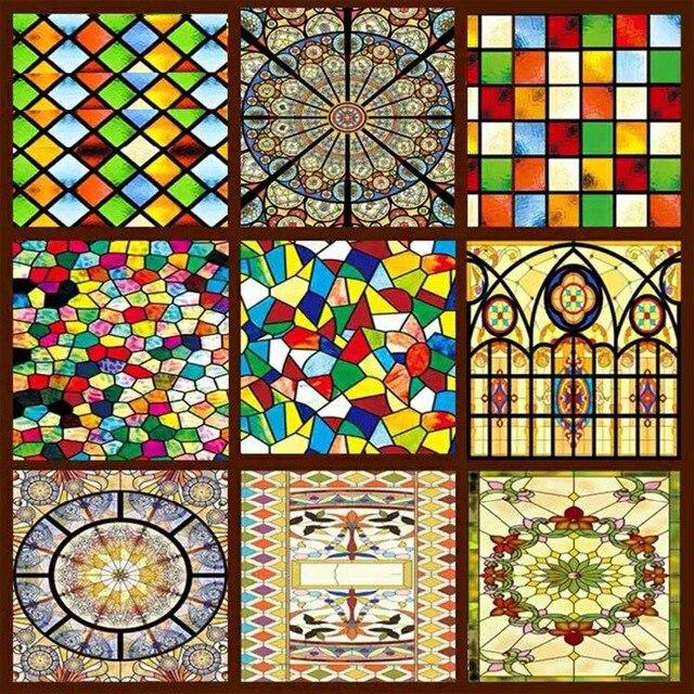 Decorative stained glass windows film custom wardrobe ...