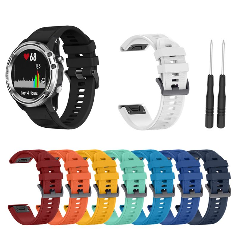 22MM Quick Release Silicone Strap for Forerunner 935 Fenix 5 5X Plus For Garmin Instinct Watch Quick Release Watchband image