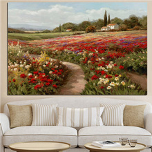Claude Monet Poplars Poppy fields Impressionist Landscape Oil Painting on Canvas Posters Wall Picture for Living Room painting the impressionist landscape