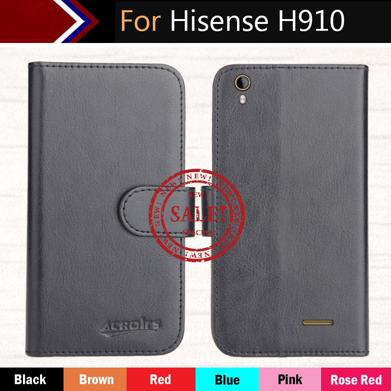 Hisense H910 Case 5.5 Hot!! In Stock 6 Colors Dedicated Leather Exclusive For Hisense H910 Slip-resistant Phone Cover+Tracking