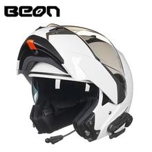 BEON мотоцикл откидной двойной линзы шлем поставляются с BT мото/мотокроссу Capacete с Bluetooth гарнитура для мужчин и Для женщин