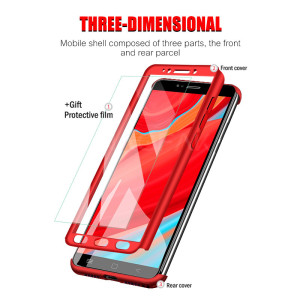 Image 2 - Luxury 360 Degree Protection Full Cover Phone Case for Xiaomi Redmi Note 4 Note 4X Shockproof Cover Note 4 Global Case Glass