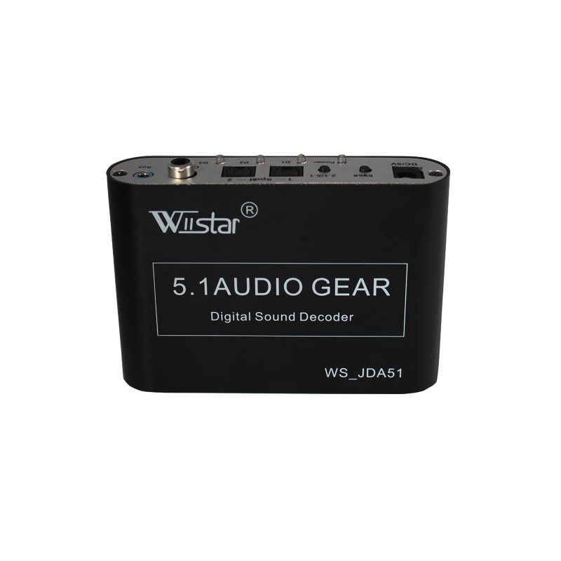 Wiistar 5.1 ch audio decoder SPDIF Coaxial to RCA DTS AC3 digital to 5.1 amplifier analog Converter for PS3,DVD player, Xbox 5 1 decoder dts ac3 spdif input to 5 1ch hdmi digital audio converter adapter extractor with us standard adapter for ps3 dvd