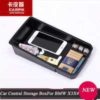 Car Central Armrest Storage Box Container Tray Organizer For BMW X3 X4 2014 2015 Accessories Car Styling