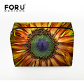 FORUDESIGNS 2016 New Print Flowers Lady Cosmetic Bag Purse Pouch With Zipper Women Travel Wash Bag Large Capacity Handbag
