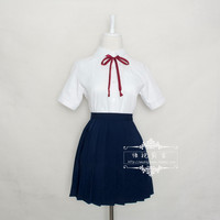Big Large Plus Size Japan Japanese School Uniform JK Cosplay Costume Anime Girl Maid Sailor Lolita Dress XXXL tops+skirt