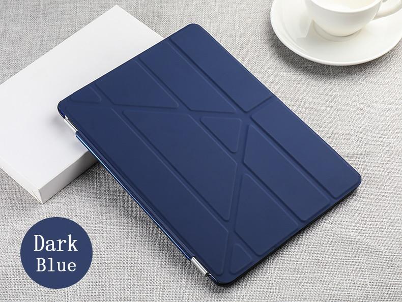 Case For Ipad Pro 9.7 Inch Multi-Fold PU Leather Smart Sleep Wake Cover + Hard PC Back Case For Apple Ipad
