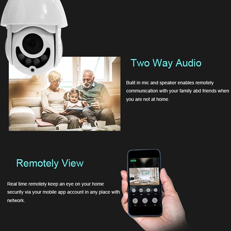 LA JOURNÉE IP caméra 1080 P Surveillance WiFi CAMÉRA CCTV moniteur Réseau Record Étanche intérieure/Extérieure Two Way Audio Pan Tilt - 5