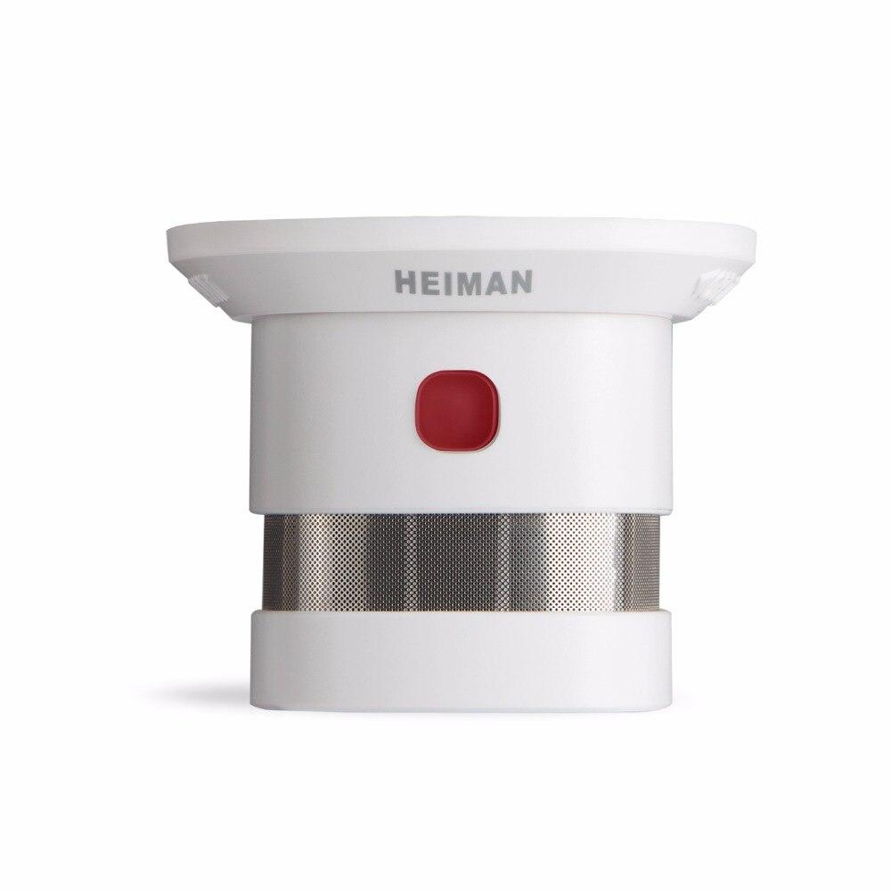 Alarme fumée sans fil d'alarme incendie fort intégré sirène 85db d'alarme incendie capteur zigbee fumée capteur de détection