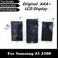 100% testado display lcd com tela de toque digitador para samsung para galaxy j5 j500 j500f j500m j500y frete grátis + rastreamento não.
