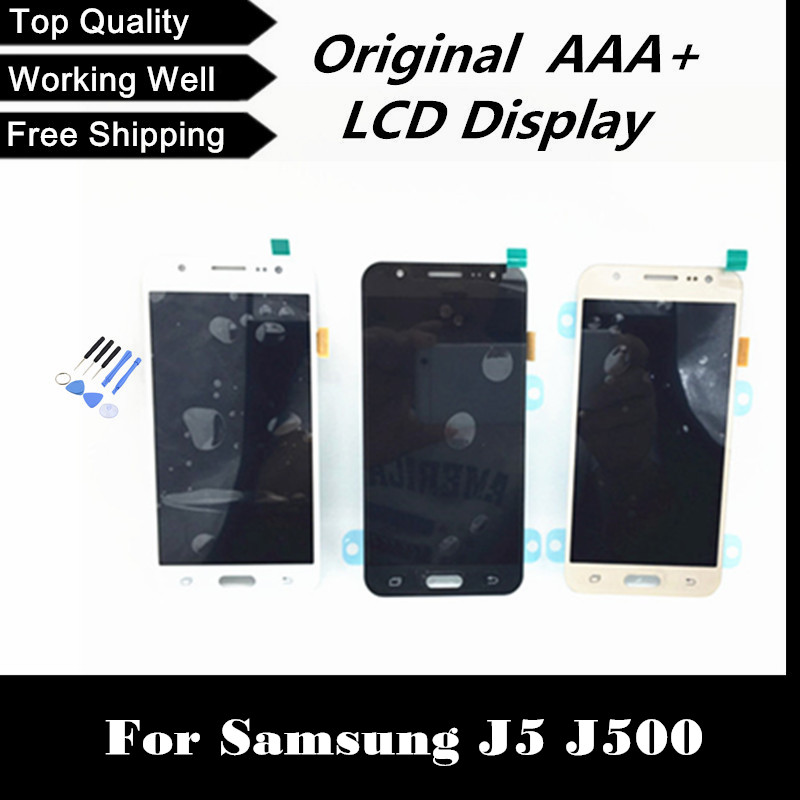 100 tested lcd display with touch digitizer screen For Samsung for galaxy J5 J500 J500F J500M