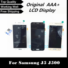 100% tested lcd display with touch digitizer screen For Samsung for galaxy J5 J500 J500F J500M J500Y free shipping+tracking No.