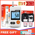 Sannuo Yizhun GA-3 medidor de glucosa en sangre y las tiras de prueba y lancetas agujas glucómetro de azúcar en la sangre de detección de Monitor para diabéticos