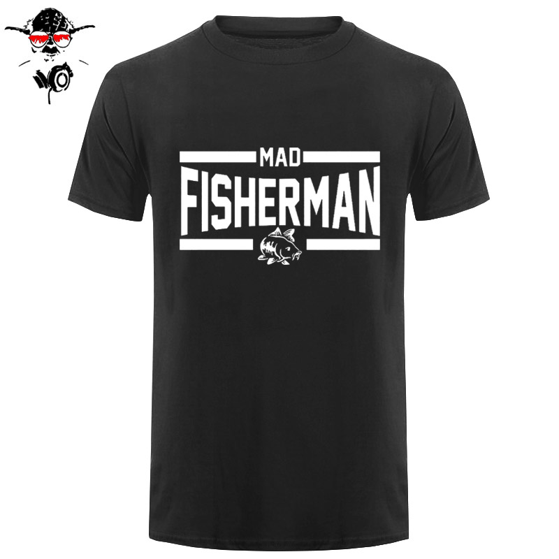 Hot Selling 100 % Cotton Summer Style Cotton Short Slevee T-Shirt Mad Fisherman casual Fitness Clothing Cool Tops Tees