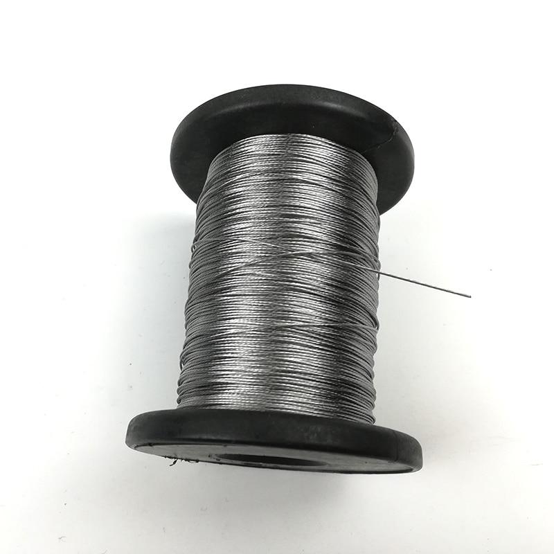 100 м/рулон леска 0,3 мм 0,4 мм 0,5 0,6 мм Диаметр мягкий Сталь гибкий трос нержавеющий 304 Нержавеющая сталь 1*7