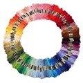 100 cores de algodão de costura bordado novelos ponto de Multi Color cross fio fio de linha de costura 8 m 6 partes não desaparecem artes, Artesanato
