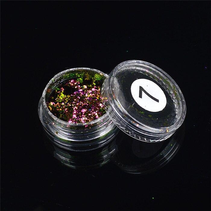 ZKO,, 1 коробка, хамелеон, блестки для ногтей, голографическая пудра, пыль, ослепительные ногти, дизайн ногтей, блестящие украшения - Цвет: 07