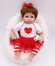 40cm silicone reborn baby dolls 16inches kids Playmate Gift For Girls Baby likelife Soft Toys For Bouquets Doll Bebe Reborn все цены
