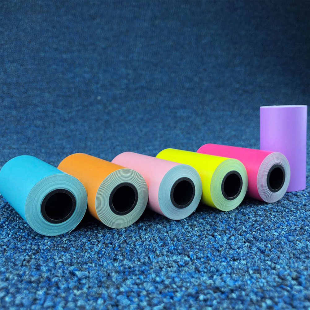 PAPERANG Color 57x30mm autoadhesivo térmico papel estampado para pegatinas para impresora de fotos Paperang