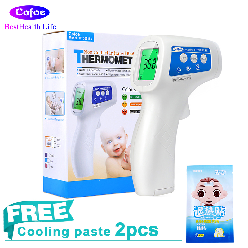 Cofoe LCD Digital Laser Infrared Forhead Thermometer Body and Object Temperature Non-contact Ear/Head Portable for Baby Adult