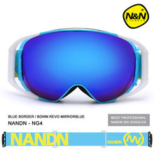 Shipping free brand snow font b snowboard b font goggles adultbrand ski goggles double UV400 anti