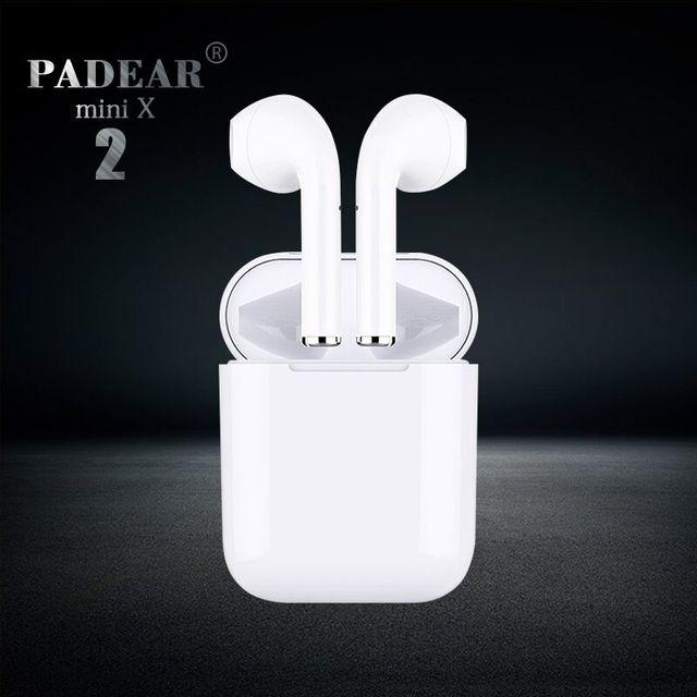 Padear mini X 2/1 Bluetooth Casque Écouteurs Air Gousses Écouteur Sans Fil pour Iphone Android 6/7/8/ PLUS X xs RS Max Sumsung