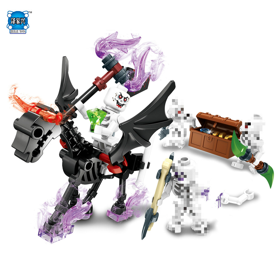 4pcs/Lots Ghost Tribe Knight Devil War Bricks Figures Education Toys for Children Kids Gift Building Blocks Compatible Lepins lego education 9689 простые механизмы