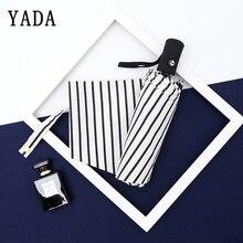 YADA Design Stripe Pattern Folding Rain Sun Automatic Umbrella For Women UV Rainproof Protection Parasol YD080