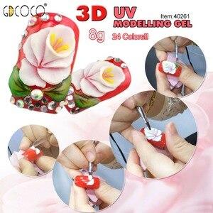 Image 4 - GDCOCO 3D гель для рисования ногтей, УФ светодиодный гель для моделирования