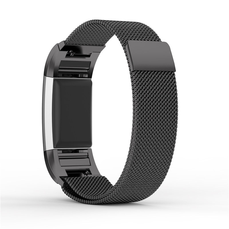 Newly Stainless Steel Metal Bracelet Strap with Unique Magnet Lock Accessories Band for Fitbit Charge 2 quality bracelet stainless steel strap 18mm for fitbit charge 2 smart watch metal band with adapter