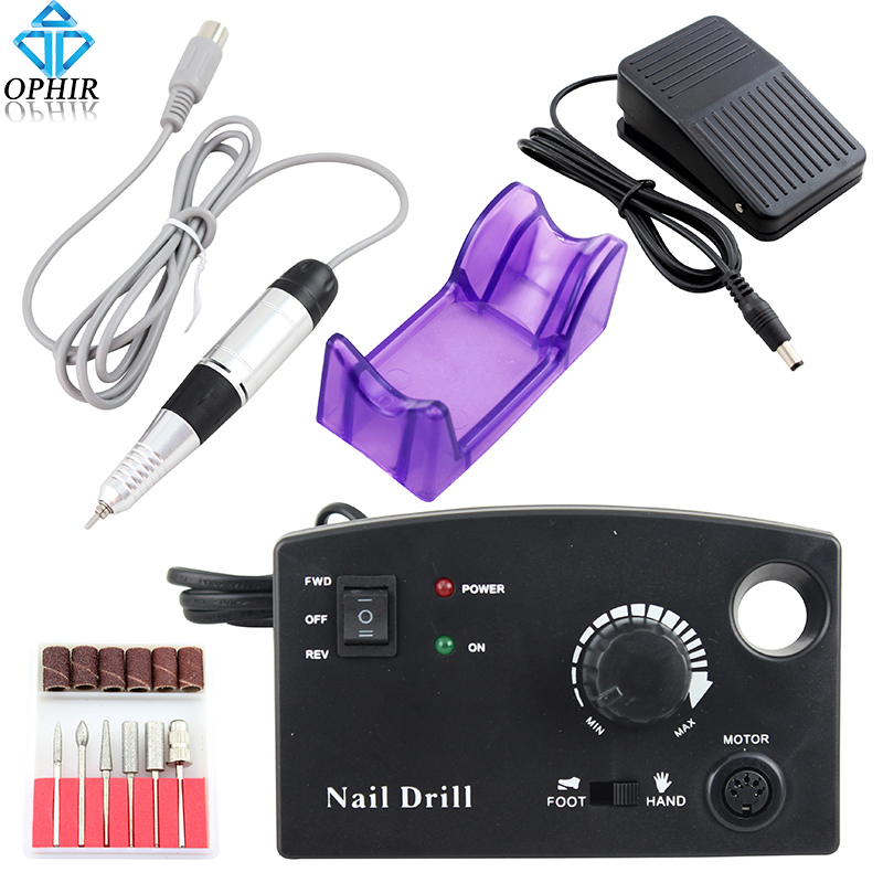 OPHIR 30000RPM Pro Nail Tool 110V US Plug Electric Nail Drill Machine Nail Art File Drill Bits Manicure Pedicure Kits _KD146B цена 2017