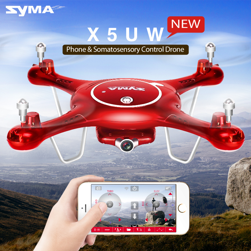 Syma X5uw Drone With Wifi Camera Hd 720p Real-time Transmission Fpv Quadcopter 2.4g 4ch X5uc Rc Helicopter Dron Quadrocopter Con 2016 syma x5hw 2 4g 4ch fpv drone with camera hd wifi real time transmission aerial quadcopter 3d roll vs syma x8c fast shipping