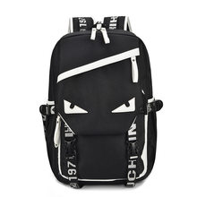 17da5004fb34 Cartoon Eyes Individuality Pattern Canvas Travel Backpack Multi-functional  College Wind Student Backpack Youth Trend