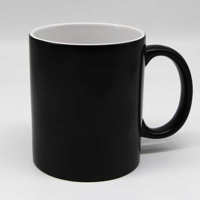 Darmowa wysyłka nowy projekt wrażliwy na ciepło kawy kufel kubek ceramiczne magia zmiana koloru kubki na herbatę niespodzianka prezent