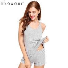 Ekouaer Womens Pajama Sets Short Sexy Pajamas Tank and Camisole Cami Set Sleeveless Sleepwear O Neck