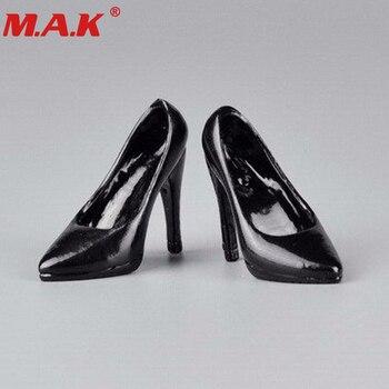 1/6 Женская экшн-фигурка девушки модель обуви белый/черный цвет обувь на высоком каблуке для 12