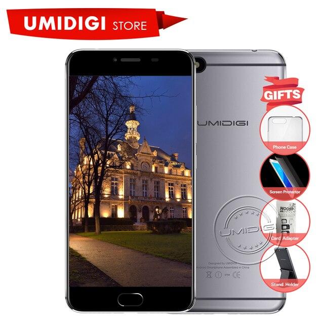 Umidigi C Примечание Android 7.0 Металла Сотовый Телефон Отпечатков Пальцев Мобильный телефон MTK MT6737T 3 ГБ RAM 32 ГБ ROM 3800 МАч Авто-фокус 4 Г телефон