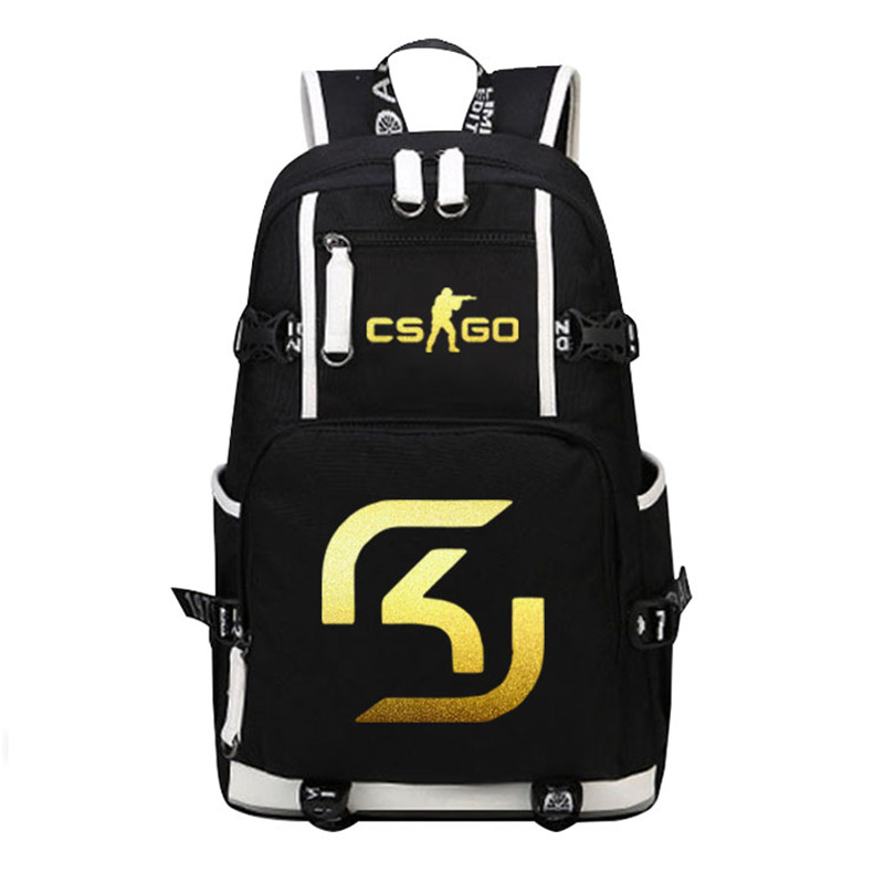 2018 CS GO Fnatic Virtus.pro SK Gaming Ninjas in Pyjamas Printing Backpack Army Men Backpack Laptop Backpack Travel Rucksack майка print bar ninjas in pyjamas team
