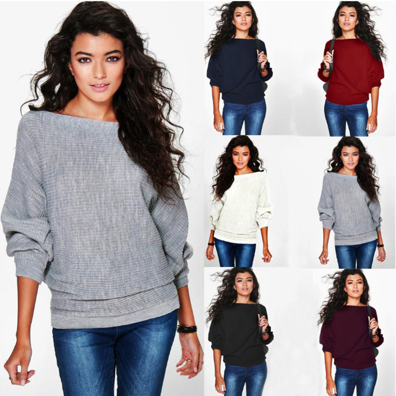 6 colors O Neck Sweater Women Jumpers Pullovers Long Sleeve Knitted Sweaters pull over autumn winter fashion knit sweaters in Pullovers from Women 39 s Clothing