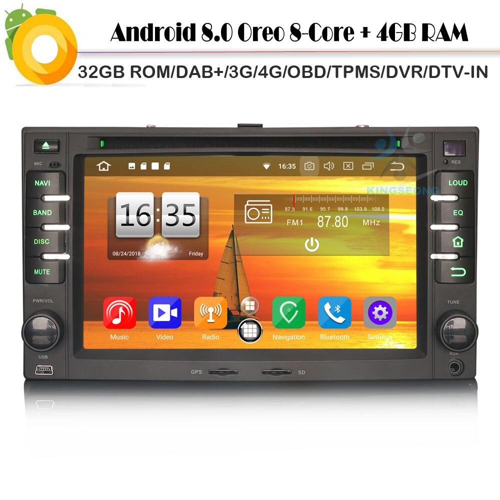 Android 8,0 Авторадио спутниковой DAB + Восьмиядерный радио 4 г DVD BT gps Bluetooth видеорегистратор автомобильный CD плеер для KIA CEED Рио MAGENTIS SPORTAGE