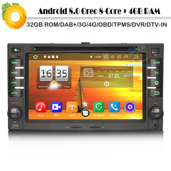 Android 8.0 Autoradio Sat Nav DAB+ Octa Core Radio 4G DVD BT GPS Bluetooth DVR Car CD player for KIA CEED Rio MAGENTIS SPORTAGE image
